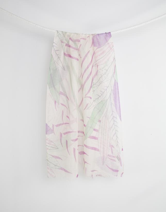 Multicolored print scarf