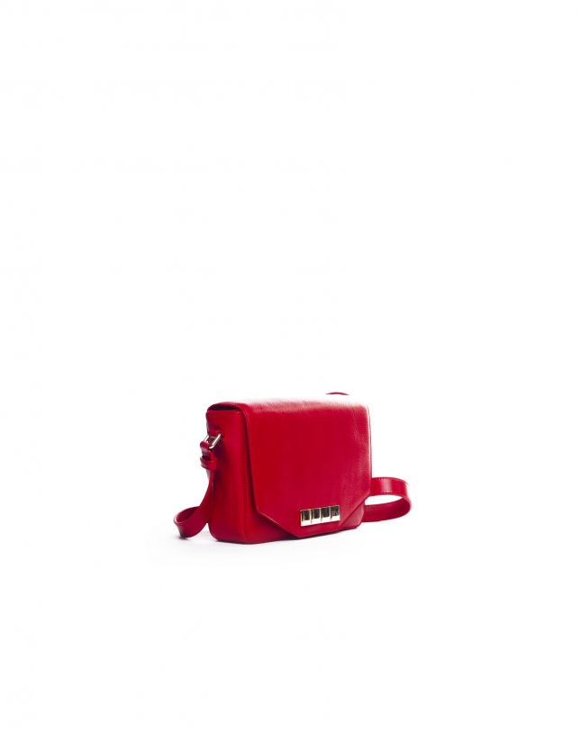 ALICIA ROUGE Sac bandoulière cuir nappa