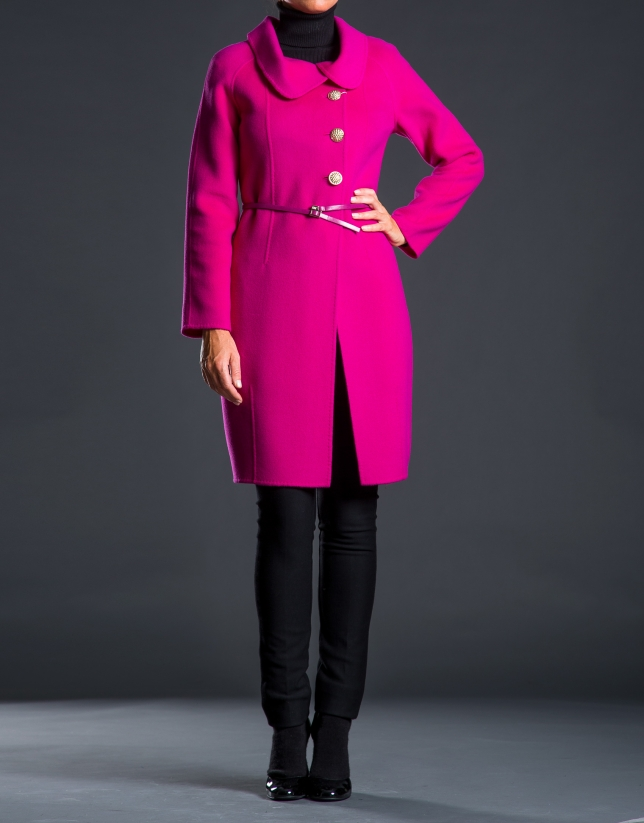 Manteau double face aubergine