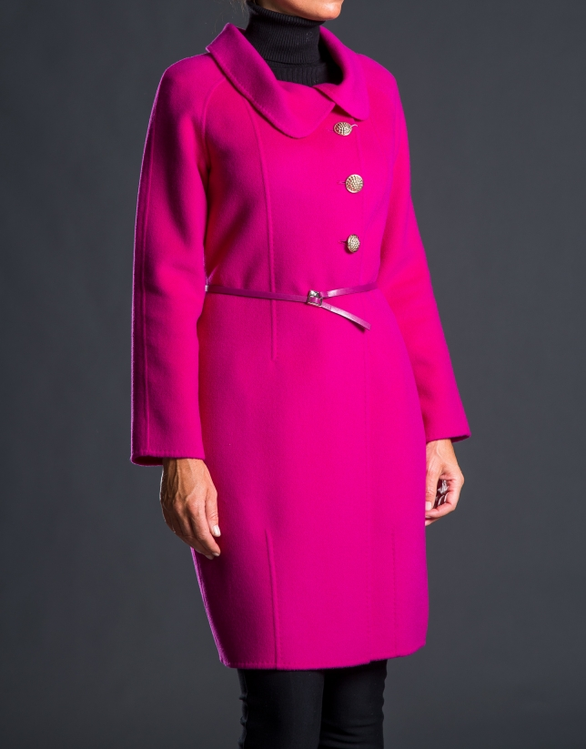 Two-faced aubergine coat