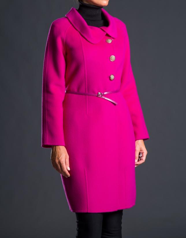 Two-faced aubergine coat