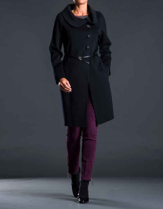 Two-faced black coat