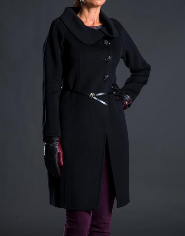 Manteau double face noir