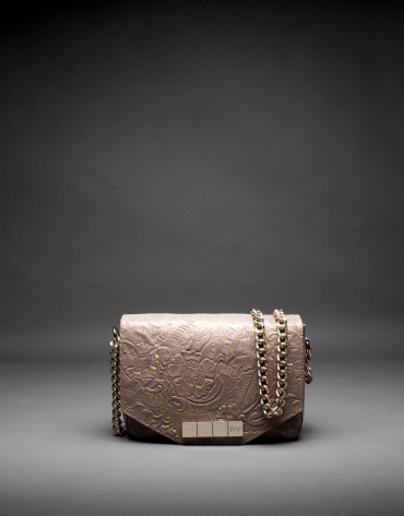 Leather, brocade and metallic Alicia Barroco bag