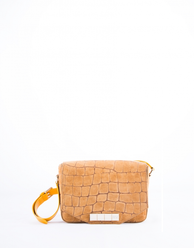 Camel alligator Alicia Copacabana bag