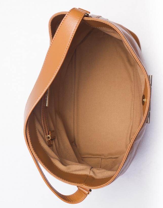 ERIKA CARAMEL: Hobo cuir nappa