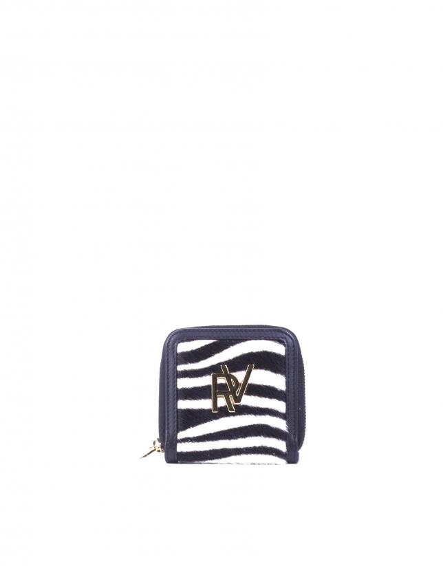Wallet in zebra skin