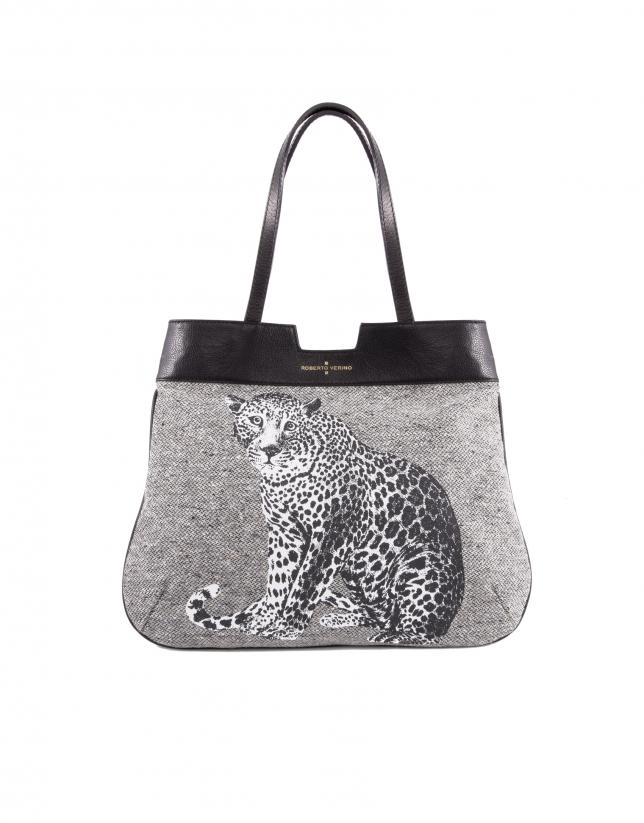 Bolso Shopping Birdy Stone print leopardo