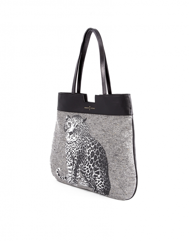 Birdy Stone leopard print wool.