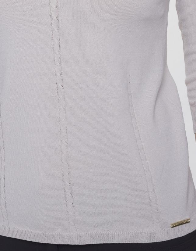 Long sleeve V neck jersey