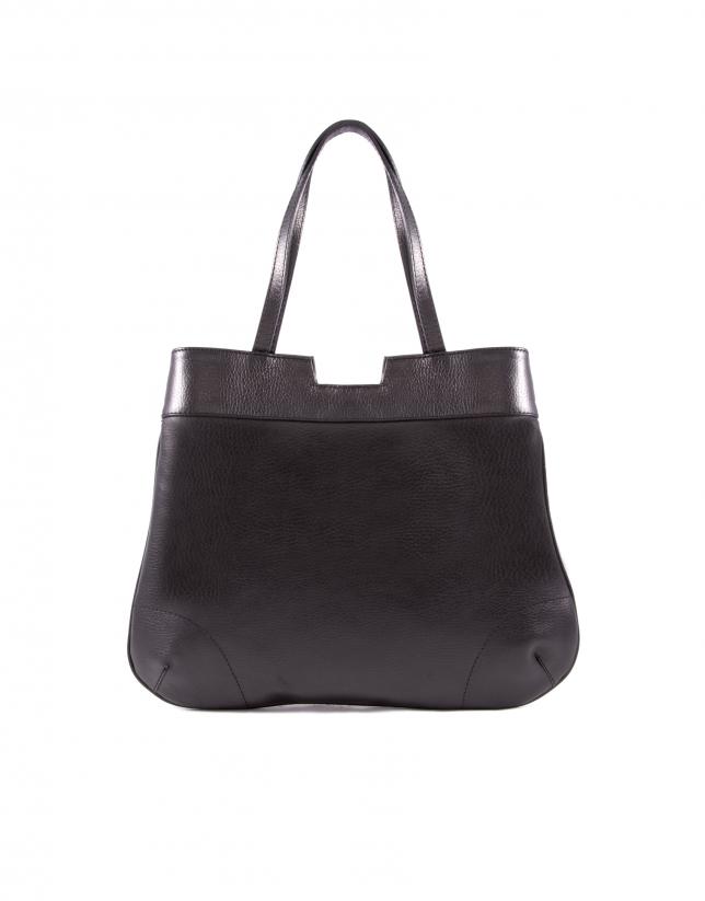 Birdy Kenia print fur and black leather bag