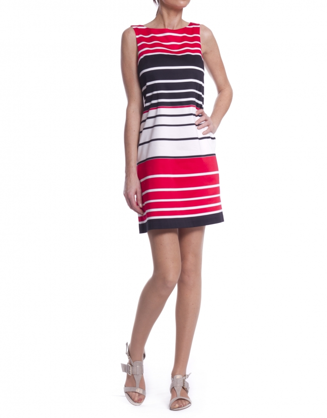Short striped dress