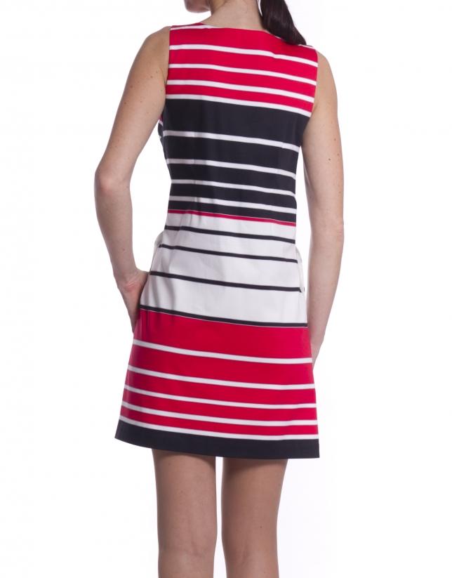 Short striped dress