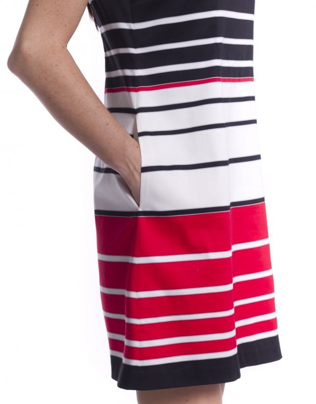 Vestido corto rayas
