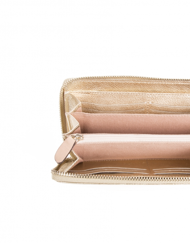 Gold cowhide billfold