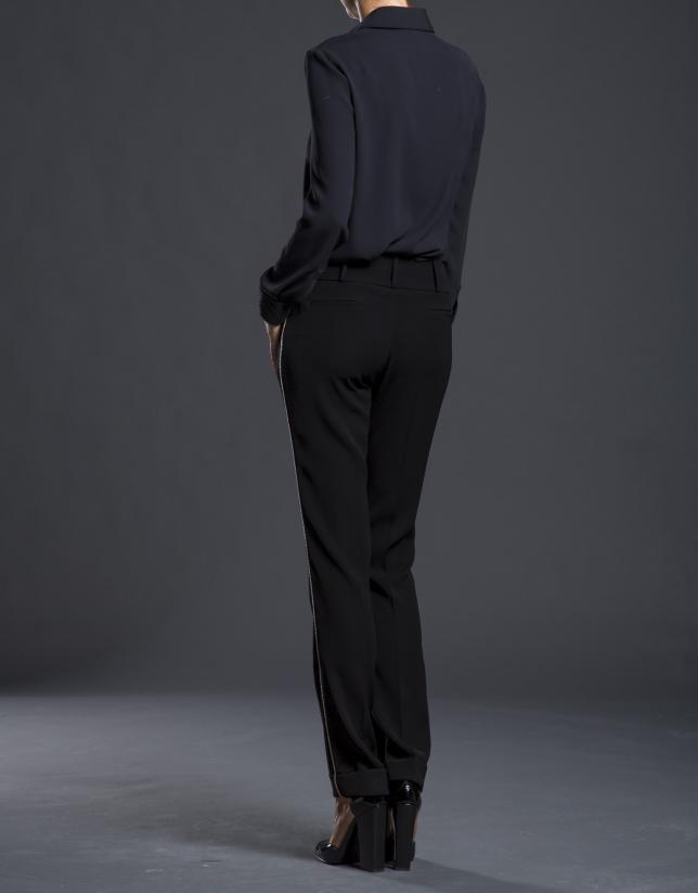 Camisa negra fantasía lentejuelas