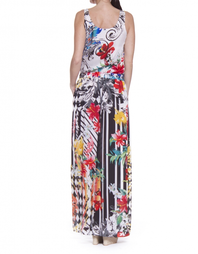 Long printed dress