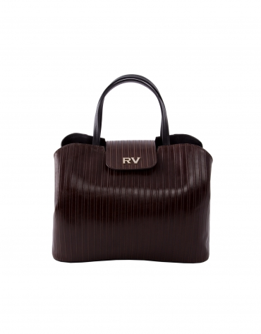 Ryan Line brown embossed leather bag
