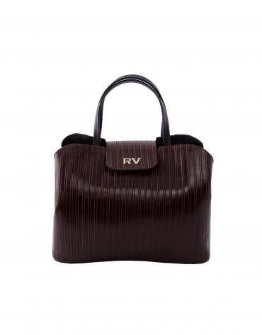 Ryan Line brown embossed leather bag