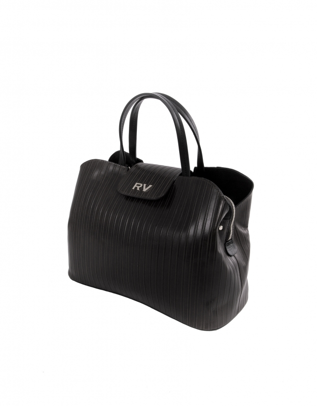 Ryan Line black leather embossed bag