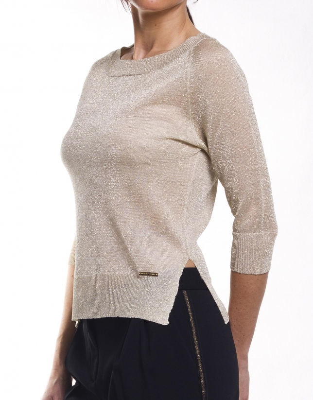 Pull manches longues encolure ronde