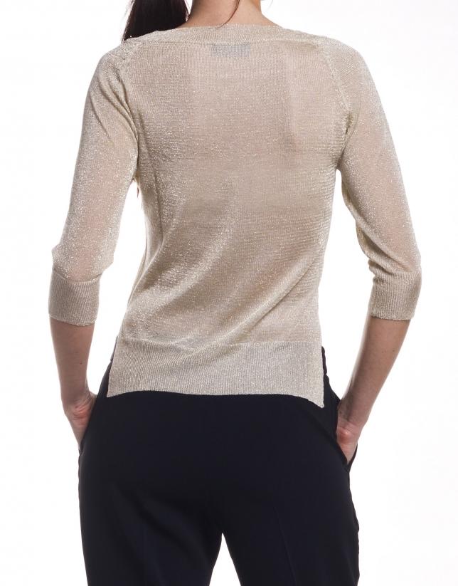 Long sleeve round neck sweater
