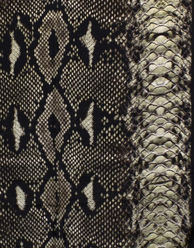 Snake print scarf