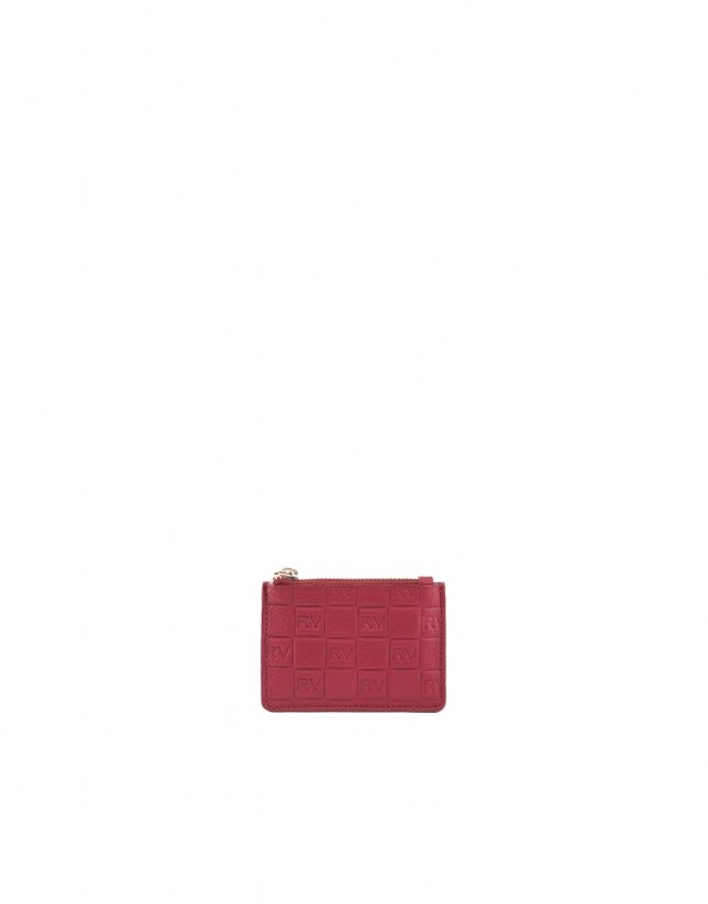 Red leather change purse.