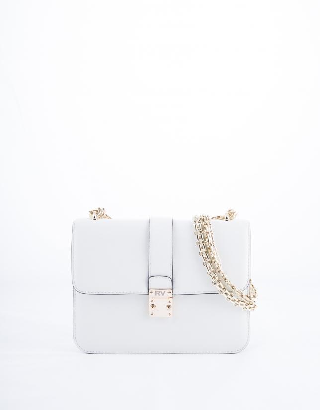 Norman : sac en cuir vachette rigide blanc