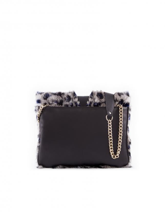Miranda Moon bag with blue and black.