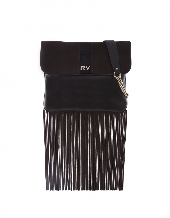 Miranda Wind brown bag with fringe