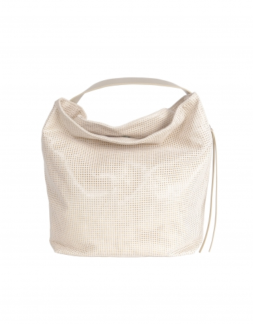 Beige die cut tote bag