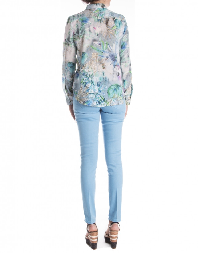 Long sleeve print shirt
