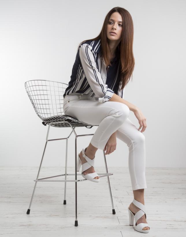beauté nouvelle arrivee prix incroyables Chemisier à rayures en bleu/blanc - Femme | Roberto Verino