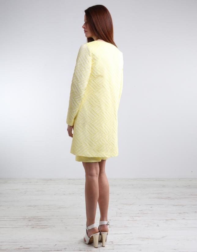 Manteau court jaune