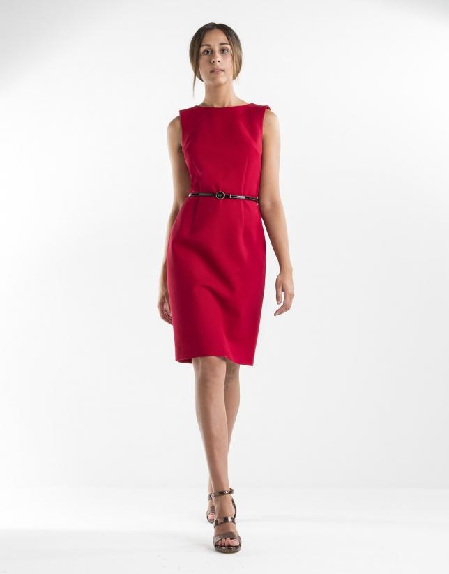 Red straight dress