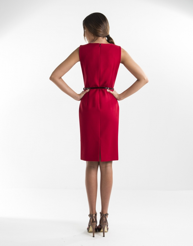 Robe droite rouge