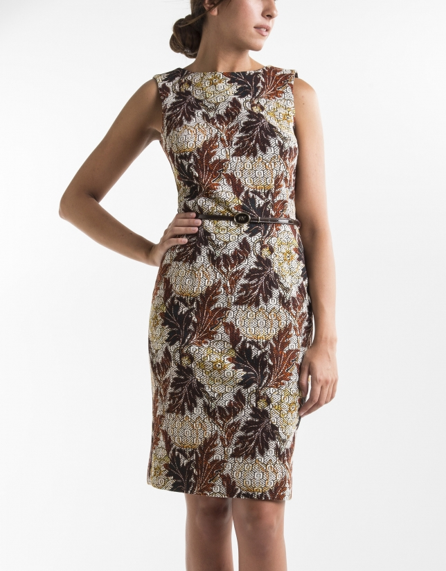 Floral print straight dress