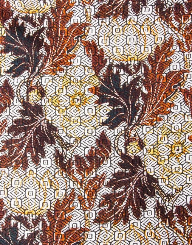 Robe droite à imprimé floral
