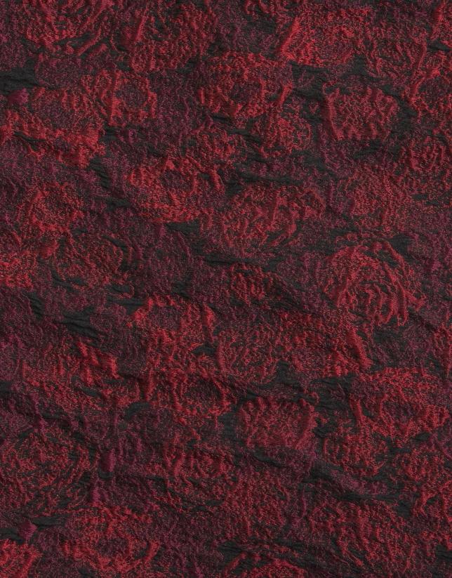 Robe droite à jacquard rouge