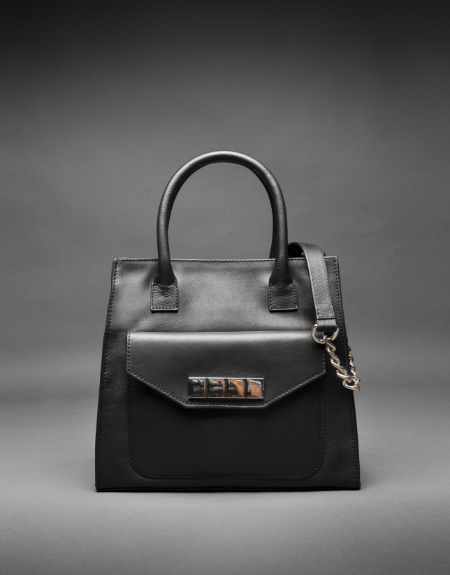 Black napa Rocío bag