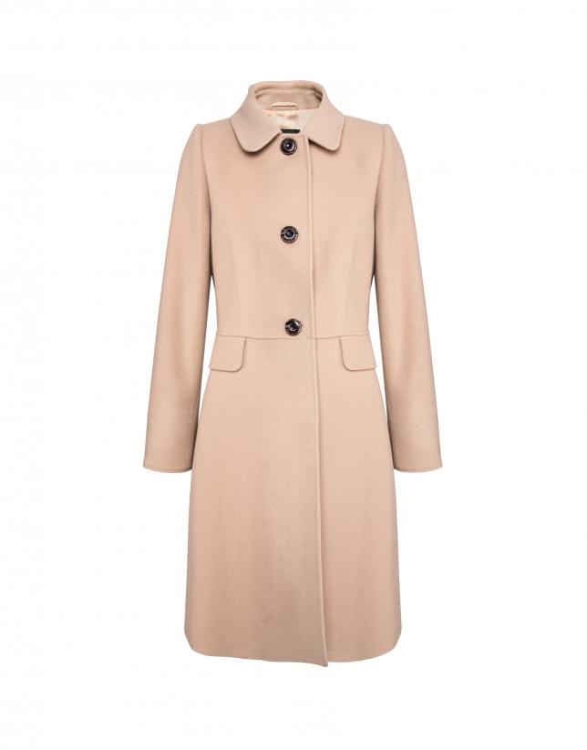 Abrigo lana y cashemire beige.