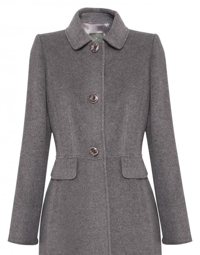 Abrigo lana y cashemire gris