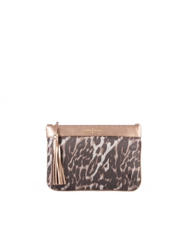 Zoe Leopard animal print fabric.