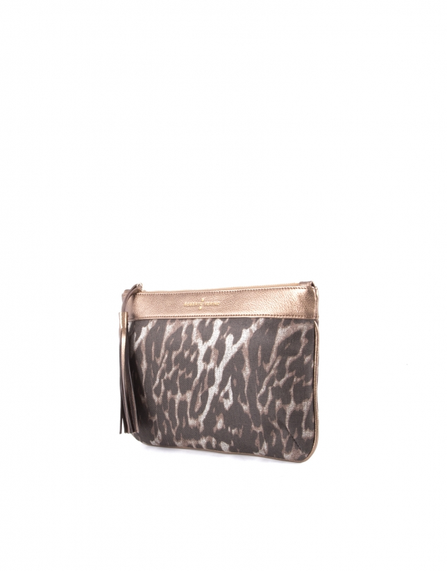 Bolso Clutch Zoe Leopard animal print
