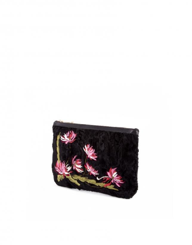 Boslo Clutch Zoe Deluxe bordado flores