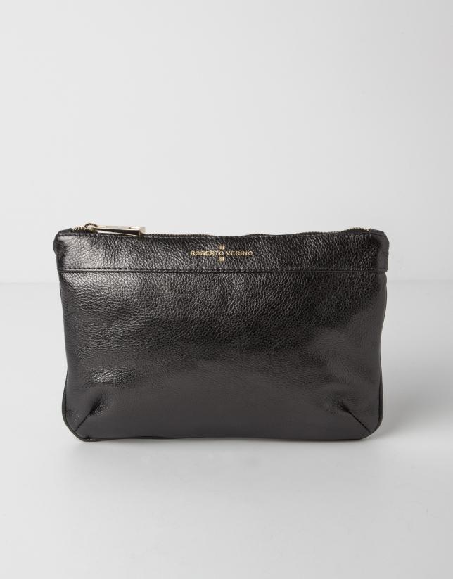 venta caliente online 73bed 7dc79 Clutch piel negro - Bolsos - Mujer | Roberto Verino