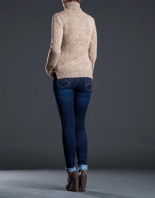 Heavy knit beige sweater