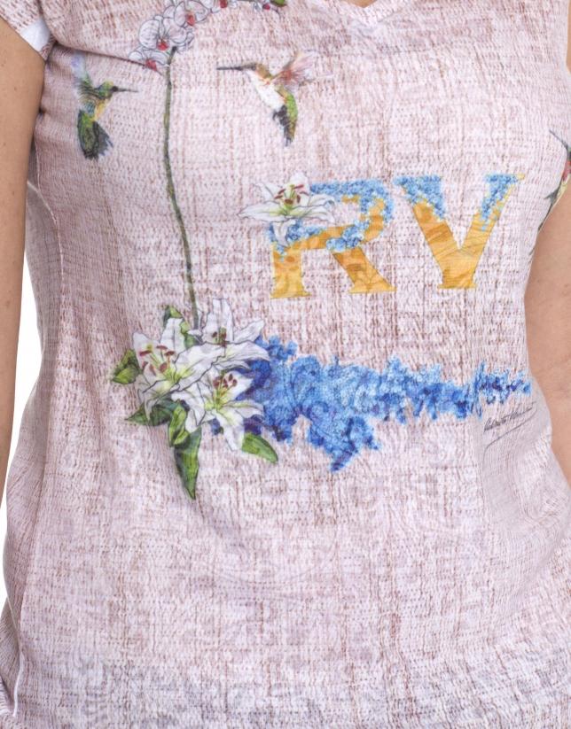 Camiseta monograma RV