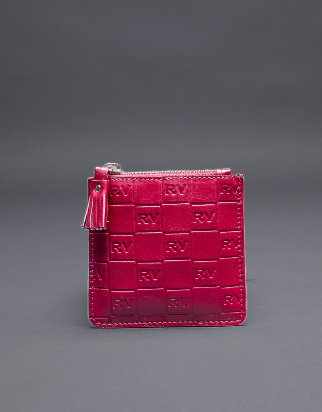 Red change purse with embossed RV
